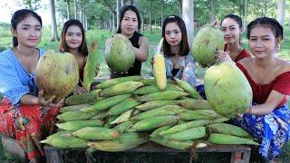 Amazing cooking corn dessert with coconut recipe