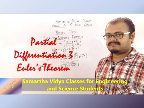 Partial Differentiation: Eulers Theorem 1