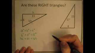 How To Determine Whether A Triangle Is A RIGHT Triangle