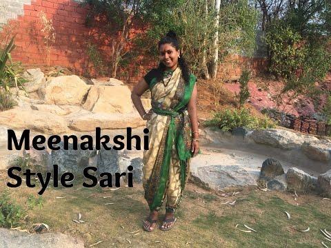 How To Wear Meenakshi Style Sari (Pants Style Sari)