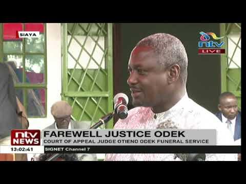 Siaya: Funeral service for Court of Appeal Judge James Otieno Odek underway