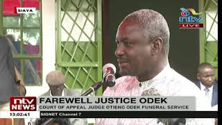Siaya: Funeral service for Court of Appeal Judge James Otieno Odek underway