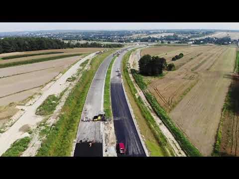 Planowana droga S19 odc. 3 obwodnica m. Kraśnik - widok lotniczy - lipiec 2021 r.
