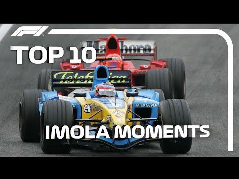 懐かしすぎるイタリア イモラサーキットで開催さらた過去のF1グランプリの中から名場面を集めたトップ10映像。F1 第13戦エミリア・ロマーニャGP