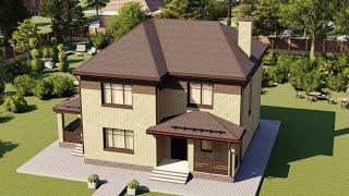 Проект дома 147-B, Площадь дома: 147 м2, Размер дома:  9,8x9,7 м