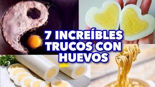 7 INCREÍBLES TRUCOS CON HUEVOS QUE CAMBIARÁN TU VIDA PARA SIEMPRE. MAIRE CONTRA HACKS.