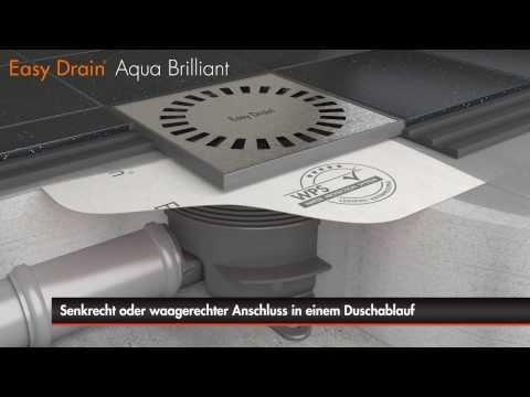 Easy Drain - Aqua Brilliant - Bodenablauf Einbau (Deutsch)