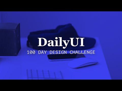 #DailyUI – 100 Day Design Challenge