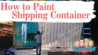 What to paint a shipping container with