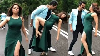 Neha Pendse Hot Dance In Slit Dress