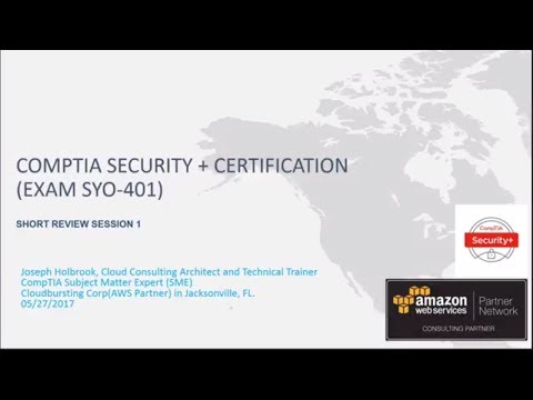 CompTIA Security Plus Exam SYO-401 Review Session One ...