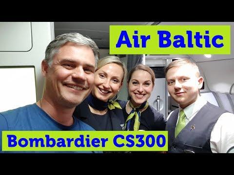 Air Baltic Bombardier CS300 Business Class