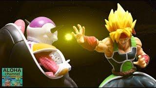 DRAGON BALL UNBOXING SUPER SAIYAN BARDOCK VS FRIEZA STOP MOTION #dragonball #stopmotion