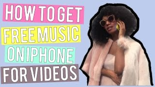 How To Add Free Music To Your Videos (IOS FREE)