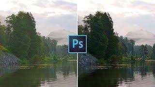 Мягкая цветокоррекция пейзажа в Photoshop