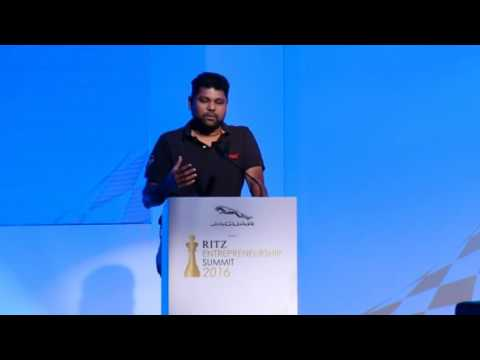 Girish Mathrubootham at Jaguar RITZ Entrepreneurship Summit 2016, Chennai