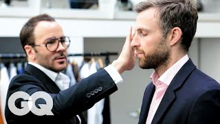 Tom Ford Gives A 30 Year Old Man An Eyebrow Makeover | Project Upgrade | GQ
