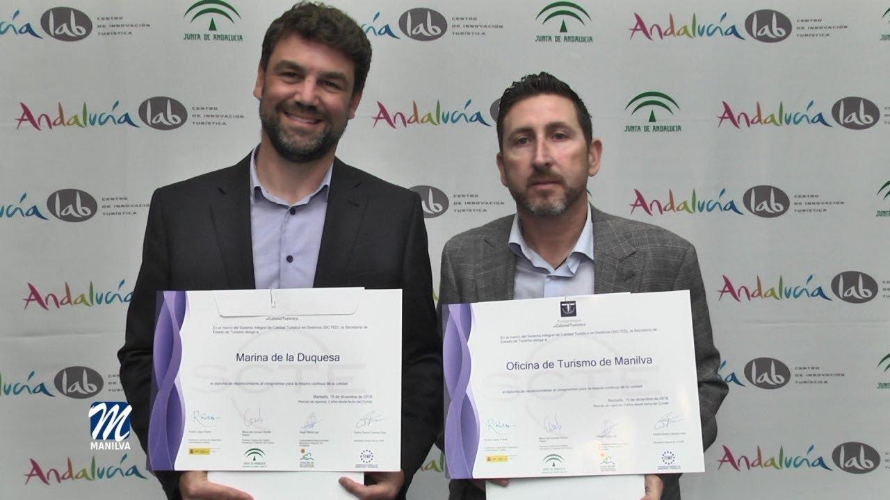 MANILVA TOMA EL PROTAGONISMO EN LOS CERTIFICADOS DE CALIDAD TURÍSTICA