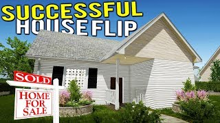 OUR FIRST SUCCESSFUL HOUSE FLIP! SELLING A TRASH HOUSE! - House Flipper Beta Gameplay