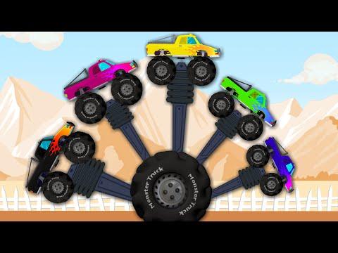 Monster Truck   Finger Family   Vehicle for Kids