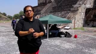 Especialistas del INAH localizan un posible túnel bajo la Plaza y Pirámide de la Luna en Teotihuacan