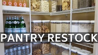 CLEAN WITH ME | PANTRY ORGANIZATION AND RESTOCK |