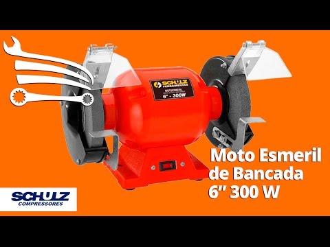 Moto Esmeril de Bancada 6 Pol 300W  - Video