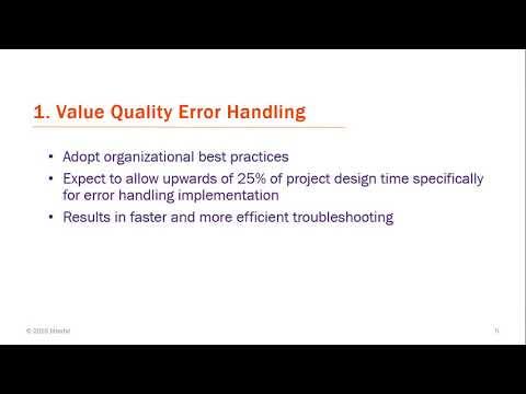 Error Handling Best Practices Tech Talk