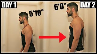 How To Grow 2 Inches Taller Overnight | Grow Taller Fast