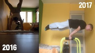 1 YEAR CRAZY CALISTHENICS AND STREET WORKOUT PROGRESSION ADVENTURE