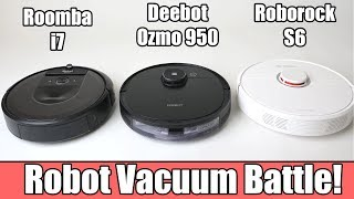 Deebot Ozmo 950 vs Roborock S6 vs Roomba i7