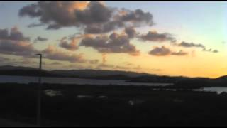 preview picture of video 'Sunset over Fitches Creek Bay (Antigua Air Station, 2008)'