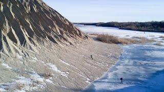 Ice skating in Rummu, Estonia.