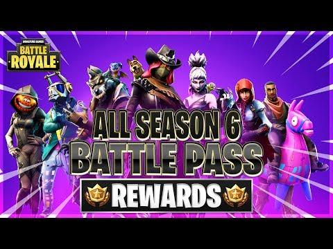 All Season 6 Battle Pass Rewards Unlocked Tier 100 Skins Gliders