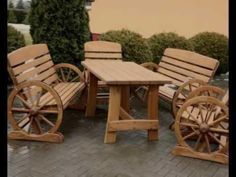 Rustikale Gartenmöbel Set