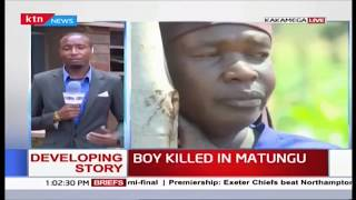 Developing: 7 year old boy stabbed to death in Matungu by unknown people