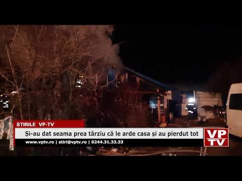 Și-au dat seama prea târziu că le arde casa și au pierdut tot
