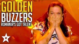 ALL GOLDEN BUZZER Auditions on Romania's Got Talent | Got Talent Global