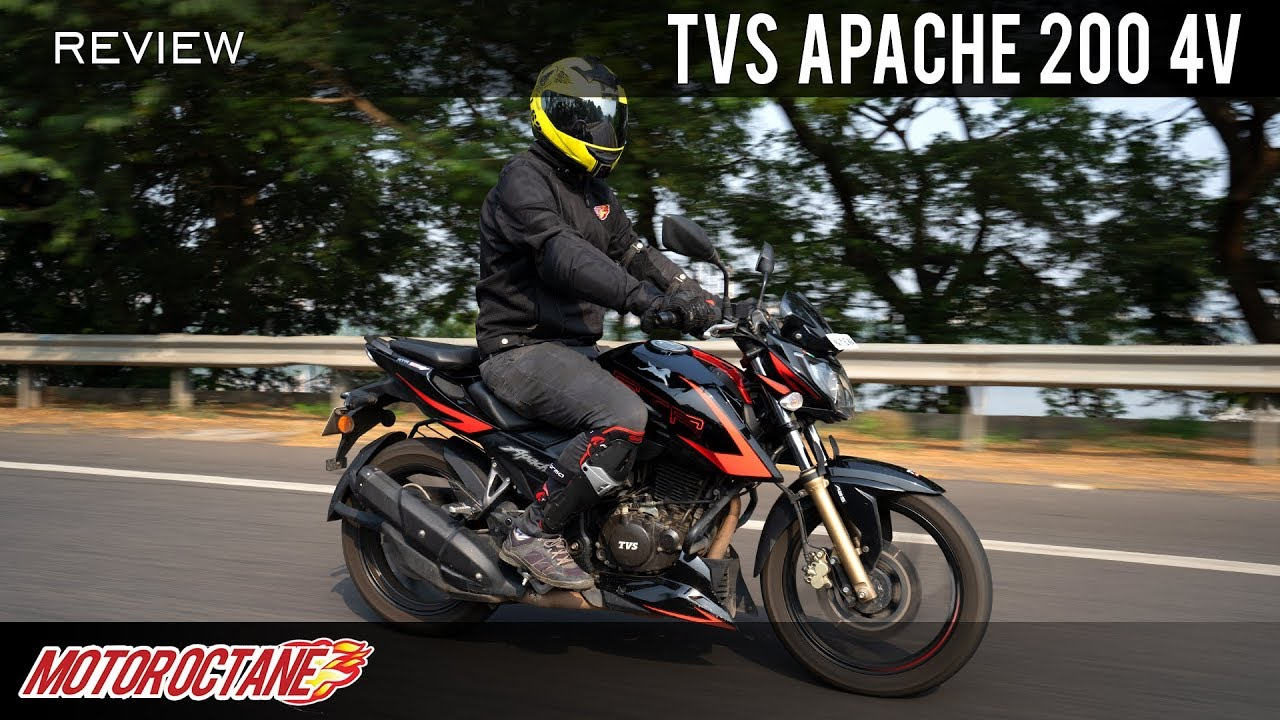 Motoroctane Youtube Video - 2019 TVS Apache RTR 200 4V Race Edition 2.0 ABS Review | Hindi | MotorOctane