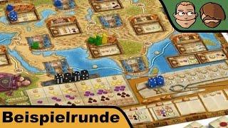 Auf den Spuren von Marco Polo (Deutscher Spielepreis 2015) - Brettspiel - Beispielrunde