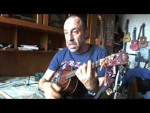 Ukulele risonatore e chitarra da viaggio-canzoni country