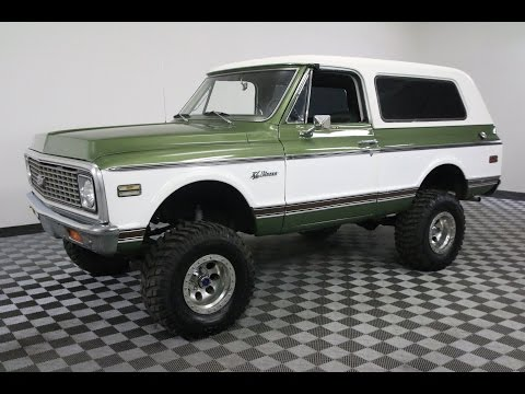 1972 CHEVROLET BLAZER GREEN