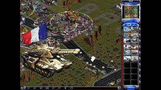 Red Alert 2: France vs 7 brutal enemy - Prism tank's upgraded