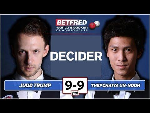 Judd Trump vs UN-Nooh  เทพไชยา อุ่นหนู Betfred  World Championship 2019 : R1  The Decider