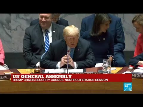 Trump speaks at a special session of the UN Security Council
