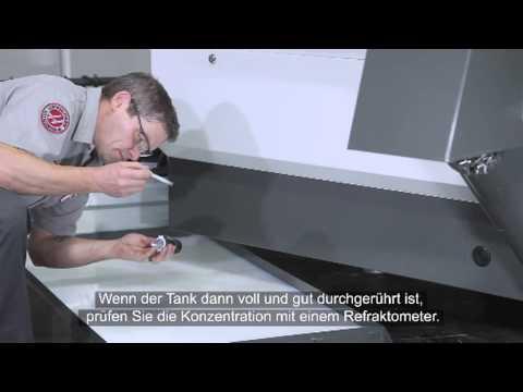 Kühlmittel für Werkzeugmaschinen: Eine neue Charge ansetzen