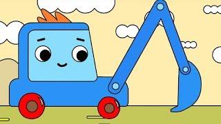 Мультфильм про машинки -  Грузовичок Пик - Раскраска -Червячок-  учим цвета