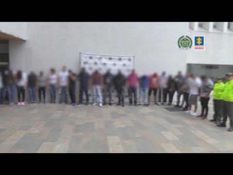 24 personas capturadas en Colombia pertenecientes a red dirigida por narco ecuatoriano