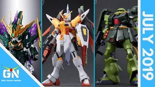 Gunpla Line Up July 2019