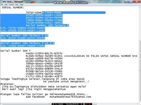 Video Cara register internet download maneger (IDM) dgn mudah